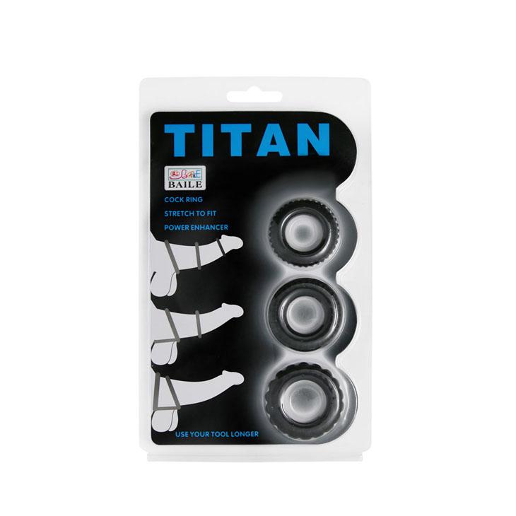 Bộ 3 vòng gai titan giữ cương cứng, chống xuất tinh sớm
