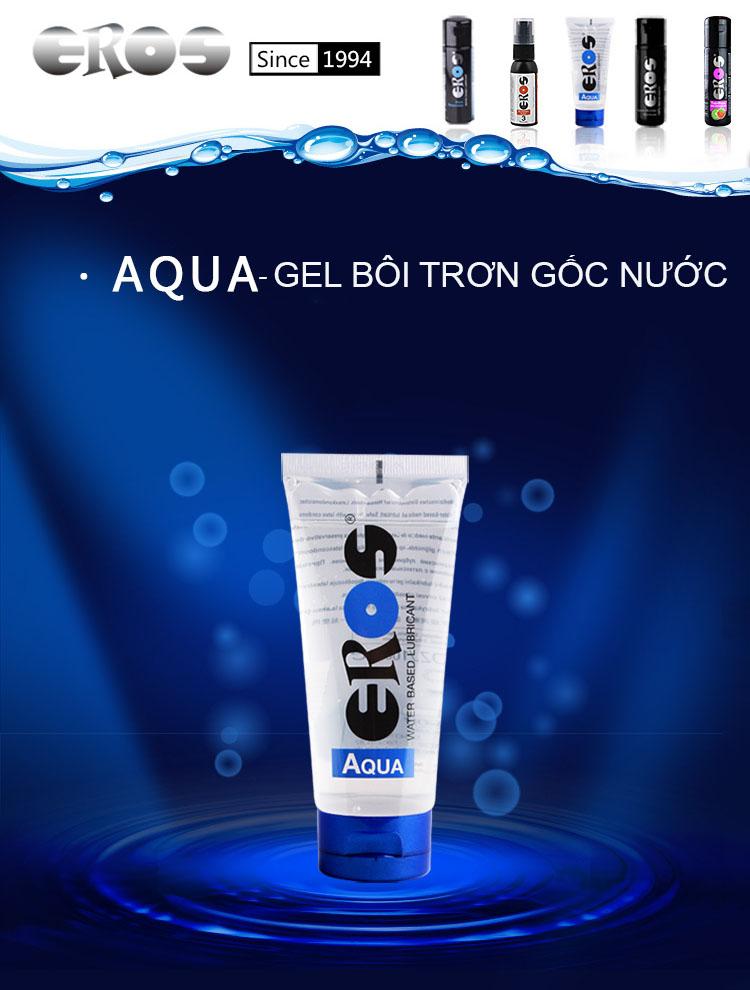Gel bôi trơn cao cấp gốc nước Eros Aqua nhập khẩu từ Đức